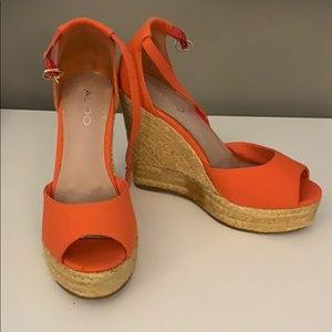Aldo Shoes Espidrille Open Toe Sz 37 or 7